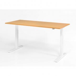 Büro Schreibtisch Stehtisch höhenverstellbar 180x80 cm Modell XMKA19 mit Tast-Schalter