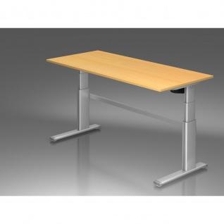 Büro Schreibtisch Stehtisch höhenverstellbar 180x80 cm Modell Xanda III