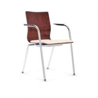 Bistrostuhl Besucherstuhl Seminarstuhl Espacio ARM Seat Plus 4-Bein-Stuhl verchromt Sitzpolster Bondai