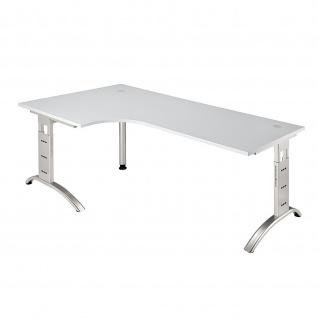 Büro Schreibtisch 200x120 cm Winkelform FS82 höheneinstellbar