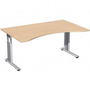 Gera Ergonomieform Schreibtisch Bürotisch C Fuß Flex höhenverstellbar 1600x1000/800x680-820mm