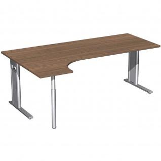 Gera PC-Schreibtisch Bürotisch C Fuß Pro links 2000x800x1200x720mm