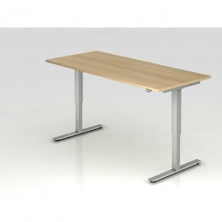 Büro Schreibtisch Stehtisch höhenverstellbar 180x80 cm Modell XMST19 mit Tast-Schalter