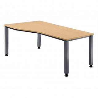 Büro Schreibtisch 180x80/100 cm Freiform Modell QS18