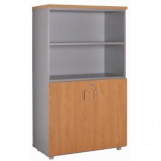 Büroschrank Ablageschrank 134 cm 2 kleine Türen Regalfach
