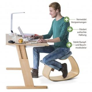 ROKKO - Ergonomischer Kniehocker mit 3D Comfortsitz Buche Massivholz geölt