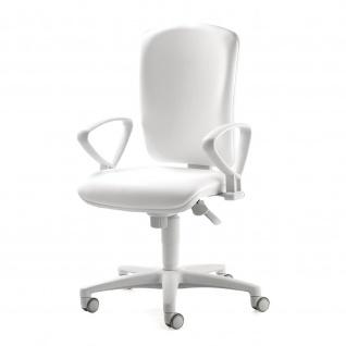 Bürostuhl Drehstuhl Arbeitsstuhl Smart White mit Armlehnen