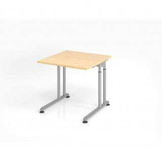 Büro Schreibtisch 80x80 cm Modell ZS08 mechanische Höheneinstellung
