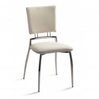 Mayer Stuhl Esszimmerstuhl 2148 perlsilber, Sitz und Rücken gepolstert