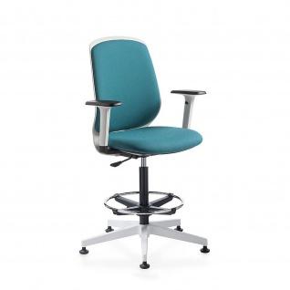 Kastel Bürodrehstuhl Drehstuhl Hocker Key Smart Kunstleder Sitz und Rücken gepolstert