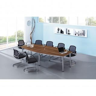 Hammerbacher Konferenztisch Besprechungstisch Meeting KT mit 6 Chromfüßen 280 x 130/85cm