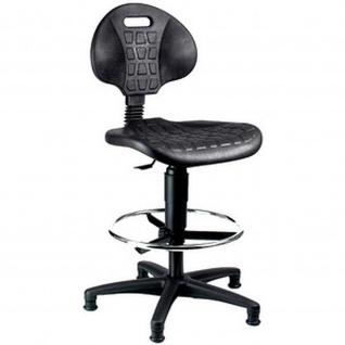 Topstar Arbeitsstuhl TEC 20 Counter Polyurethan schwarz
