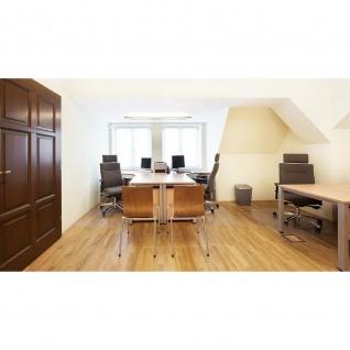 Schreibtisch Bürotisch E10 Toro Tiefe 60x60 cm Freiform Quadratrohrgestell verchromt