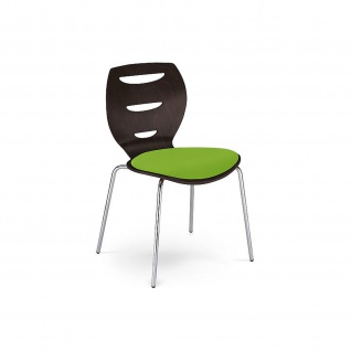 Bistrostuhl Besucherstuhl Objektstuhl Alani Seat Plus CR 4-Bein-Stuhl verchromt