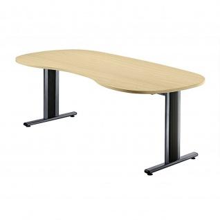 Büro Schreibtisch 200x100 cm Nierenform Modell TS20