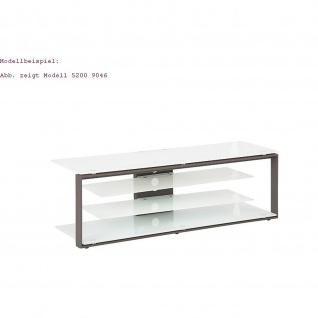 Maja TV Rack 52049046 Metall anthrazit - Weißglas ESG Sicherheitsglas