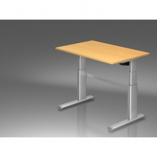 Büro Schreibtisch Stehtisch höhenverstellbar 120x80 cm Modell Xanda III