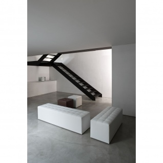 Design Hocker Besucherhocker Kubox 3 Sitzer mit Gleitern