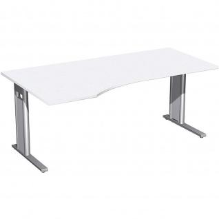 Gera PC-Schreibtisch Bürotisch C Fuß Pro links 1800x800/1000x720mm