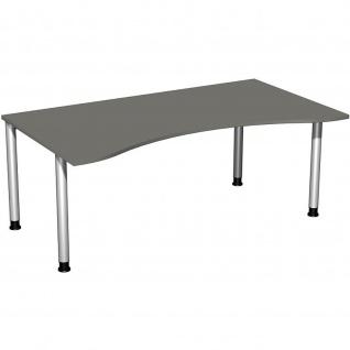 Gera Ergonomieform Schreibtisch Bürotisch 4 Fuß Flex höhenverstellbar 1800x800/1000x680-800mm