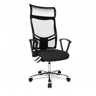 Design Bürodrehstuhl Net Point 20 verchromtes Fußkreuz mit Netzrücken - bis 150 kg
