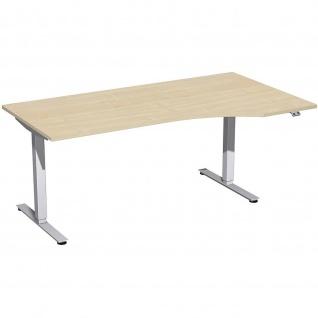 Elektro Smart Freiform-Schreibtisch rechts oder links elektrisch höhenverstellbar 1800x800/1000 mm diverse Dekore - Vorschau 1