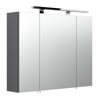 Badmöbel Badezimmer Gästebad Spiegelschrank 5681 80 cm breit incl. LED Lampe