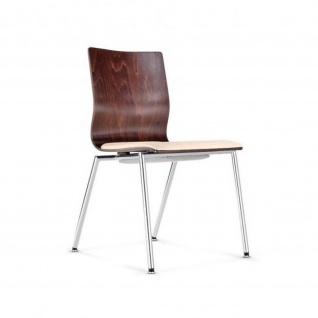 Bistrostuhl Besucherstuhl Seminarstuhl Espacio Seat Plus 4-Bein-Stuhl verchromt Sitzpolster Bondai
