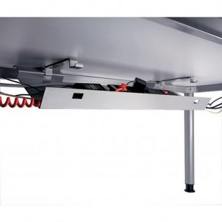 Büro Schreibtisch 200x120 cm Winkelform Modell JS82 stufenlos höheneinstellbar