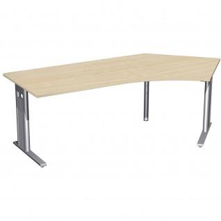 Gera Winkel Schreibtisch Bürotisch C Fuß Pro 135° rechts 2166x1130x720mm