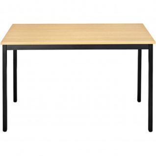 Konferenztisch Universaltisch 148RHN, 1.400 x 800 mm Gestell schwarz