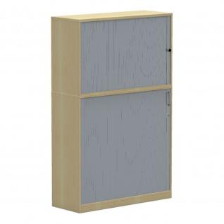 Aufsatzschrank Querrolladenschrank Büroschrank E10 Toro B:1200mmT:445mm Sichtrückwand in Korpusfarbe