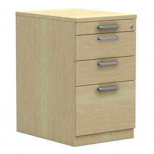 Standcontainer Bürocontainer E10 Toro mit 2 Schub-, 1 Utensilien- u. 1 Hängeregistraturauszug H:740mm, B:430mm Kunststoff-oder Stahlschub