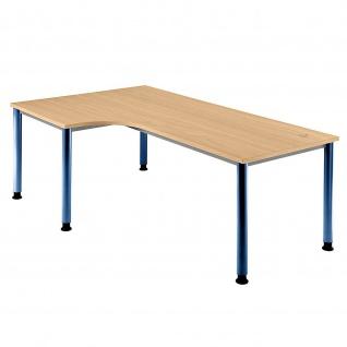 Büro Schreibtisch 200x120 cm Winkelform Modell HS82