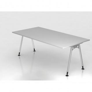 Büro Schreibtisch 200x100 cm Modell AS2E stufenlos höheneinstellbar