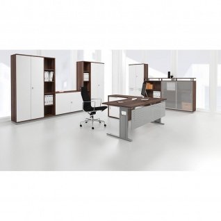 Gera Schreibtisch Bürotisch C Fuß Pro 800x800x720mm verschied. Dekore