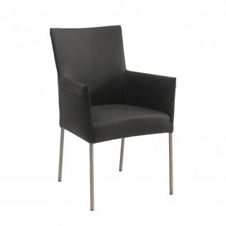 Design Stuhl Lounger Sessel Rotolo Kunstleder Edelstahl