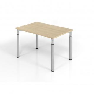 Büro Schreibtisch 120x80 cm Modell YS12 mechanische Höheneinstellung