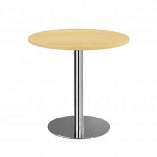 Bistro Tisch Beistelltisch Besprechungstisch 08 chrom 80 cm Durchmesser