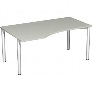Gera PC-Schreibtisch Bürotisch 4 Fuß Flex links 1600x800x1000mm verschied. Dekore
