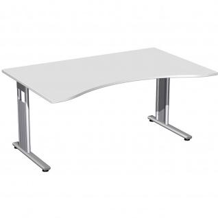 Gera Ergonomieform Schreibtisch Bürotisch C Fuß Flex 1600x1000/800x720mm