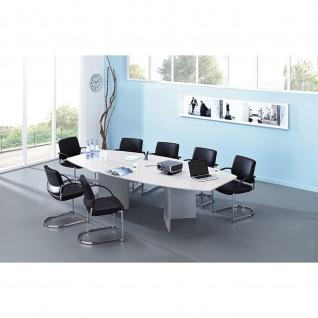 Hammerbacher Konferenztisch Besprechungstisch Meeting KT mit Holzfuss 280 x 130/85cm