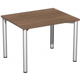 Gera Schreibtisch Bürotisch 4 Fuß Flex 1000 x800mm verschied. Dekore