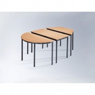 Konfenztisch halbrunder Mehrzwecktisch 120 x 60 cm