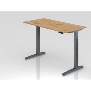 Hammerbacher Büro Schreibtisch Stehtisch höhenverstellbar 160x80 cm Modell XBHM16 mit Memory-Schalter