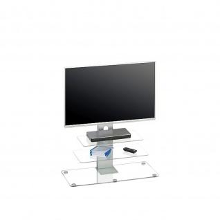 TV-Rack, 1641 Metall Alu - Glas 90 x 95 x 40 cm