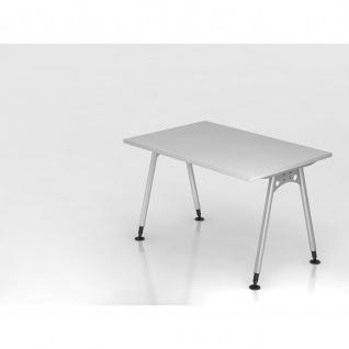 Büro Schreibtisch 120x80 cm Modell AS12 stufenlos höheneinstellbar