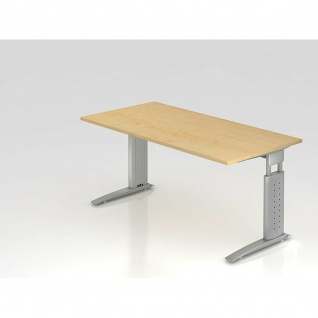 Büro Schreibtisch 160x80 cm Modell US16 mechanische Höheneinstellung