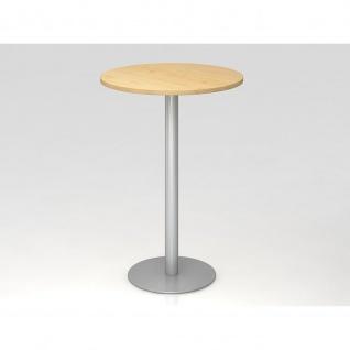 Bistro Tisch Stehtisch Besprechungstisch 08 silber 80 cm Durchmesser