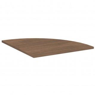 Gera Verkettungsplatte Viertelkreis 90° für Schreibtisch Bürotisch 4 Fuß Flex 800x800mm onyx nussbaum